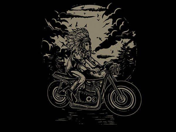 Indian Chief Rider tshirt design buy t shirt design