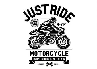 Just Ride buy t shirt design