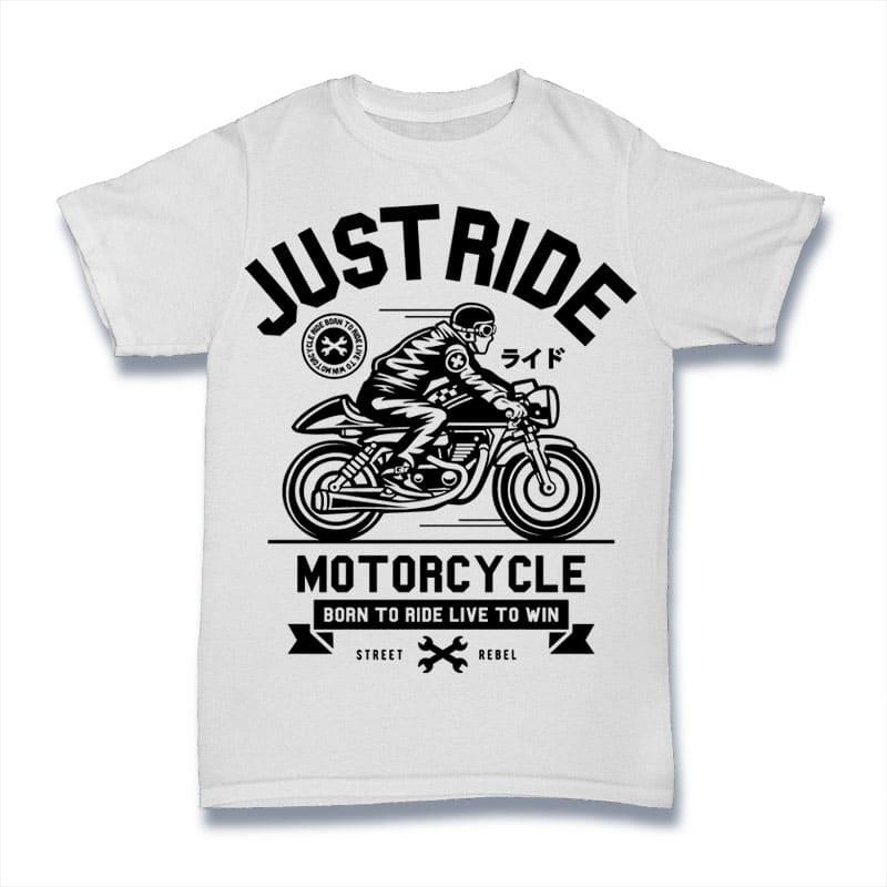Just Ride buy t shirt design