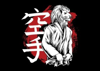 King of The Karate t shirt vector art