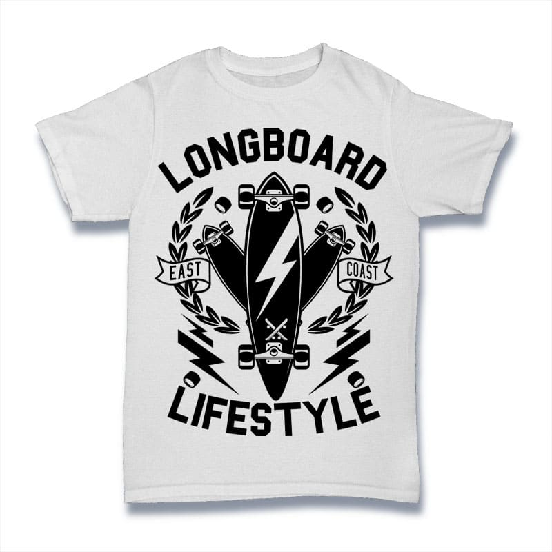 Longboard Lifestyle buy t shirt design