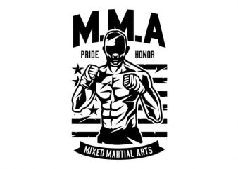 MMA Fighter t shirt designs for sale