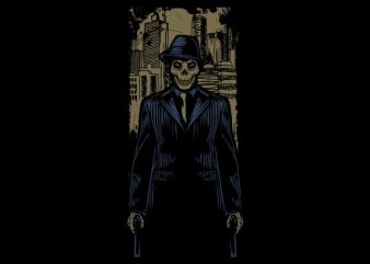 Mafia Skull buy t shirt design