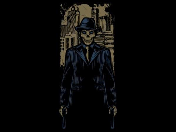 Mafia Skull buy t shirt design