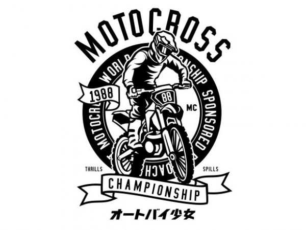 Moto Cross t shirt designs for sale