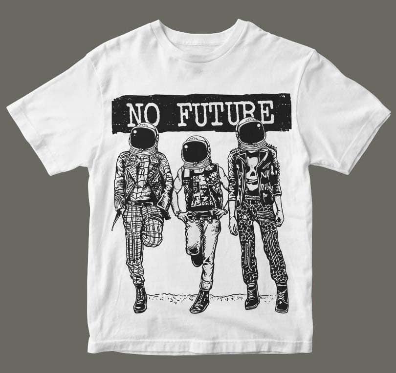 No Future t shirt design buy t shirt design