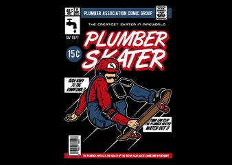 Plumber Skater t shirt design buy t shirt design