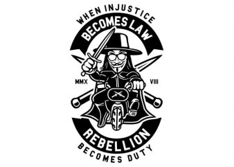 Rebellion Becomes Duty t shirt design online