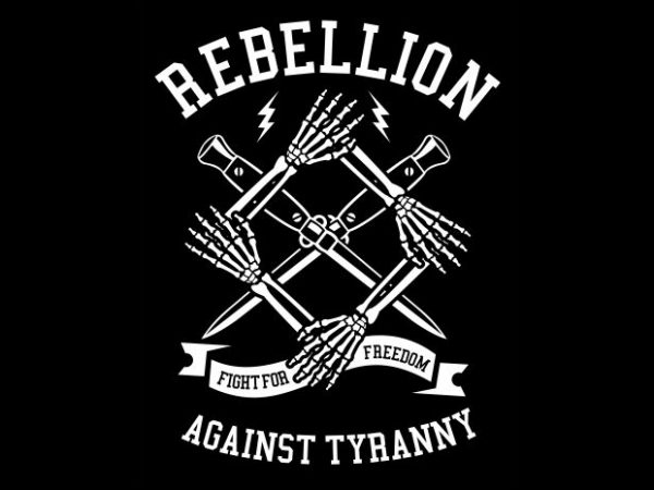 Rebellion t shirt design online