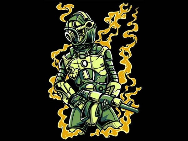 Robot Soldier t shirt design buy t shirt design