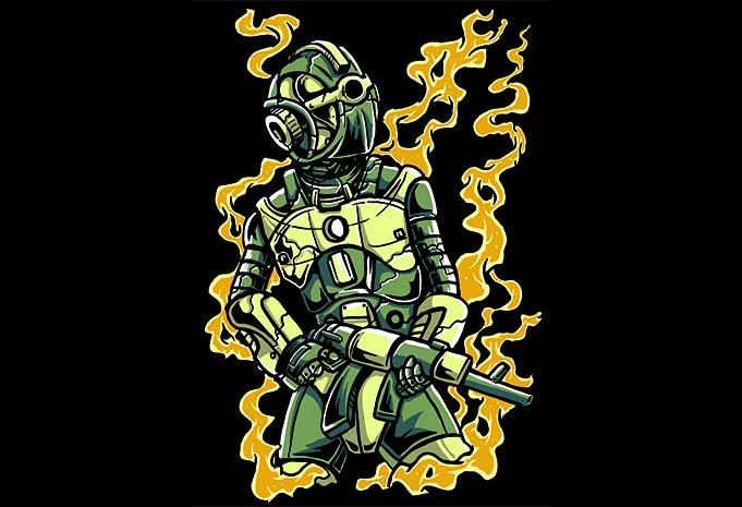 Robot Soldier buy tshirt design - Robot Soldier t shirt design buy t shirt design