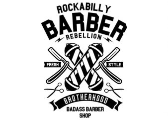 Rockabilly Barber buy t shirt design