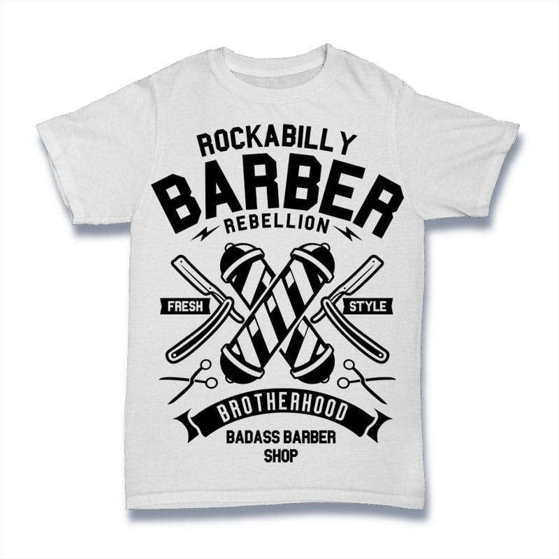 Rockabilly Barber buy t shirt design