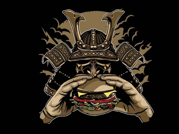 Samurai Burger t shirt design buy t shirt design