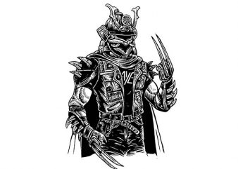 Samurai Punk t shirt design