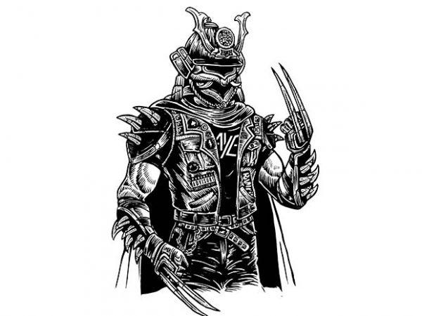 Samurai Punk t shirt design buy t shirt design