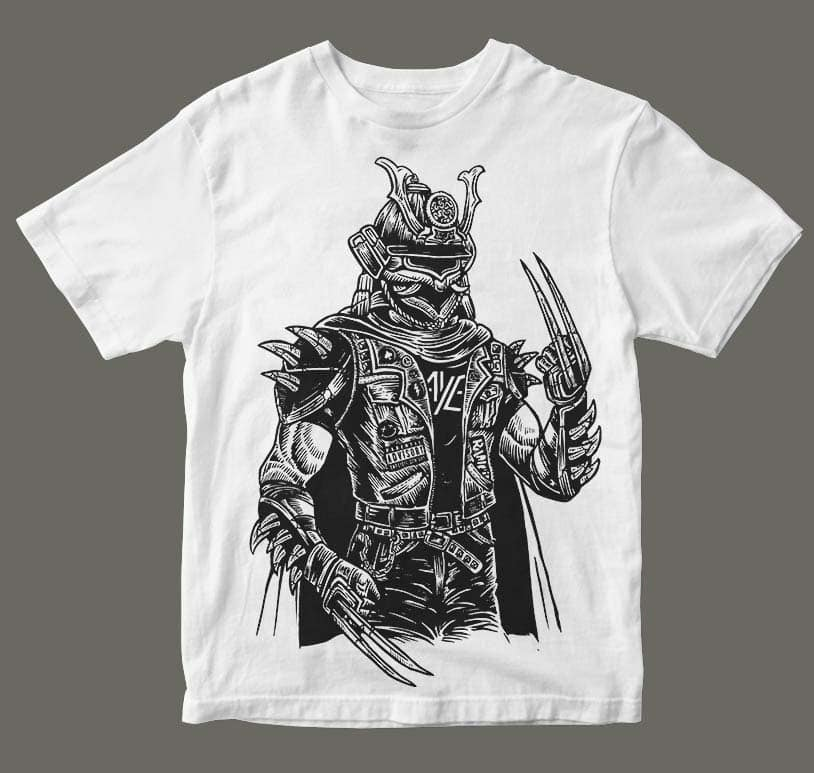 Samurai Punk buy tshirt design mockup - Samurai Punk t shirt design buy t shirt design