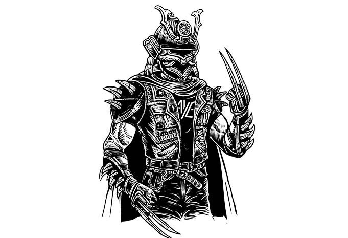 Samurai Punk buy tshirt design - Samurai Punk t shirt design buy t shirt design