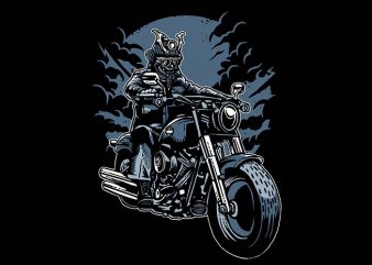 Samurai Ride t shirt design buy t shirt design