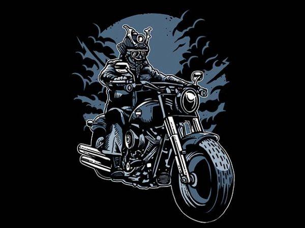 Samurai Ride t shirt design buy t shirt design