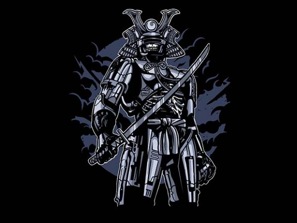 Samurai Robot Skull buy tshirt design 600x450 - Samurai Robot Skull t shirt design buy t shirt design