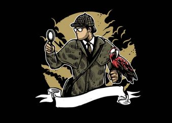Sherlock Holmes t shirt design buy t shirt design