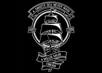 Skilled Sailor t shirt template vector