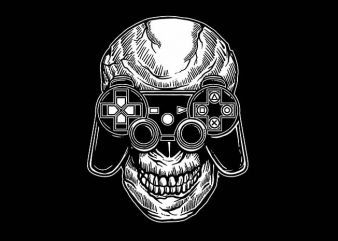 Skull Gamers t shirt design buy t shirt design