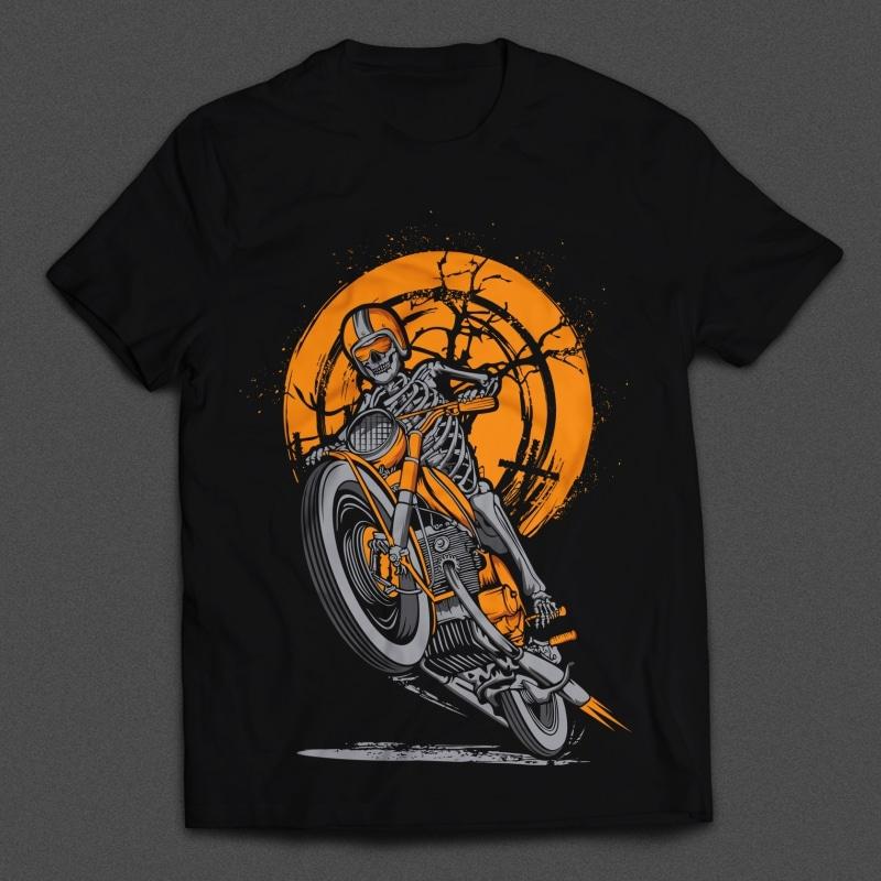Skull Rider buy t shirt design