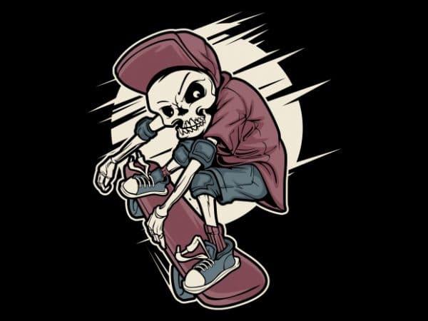 Skull Skates t shirt template vector