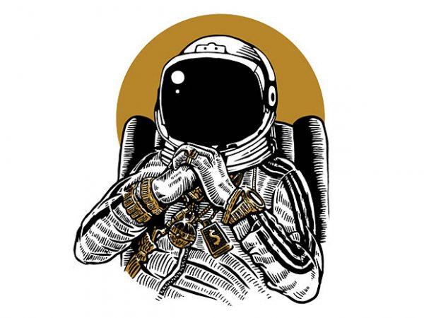 Space Dee Jay t shirt design