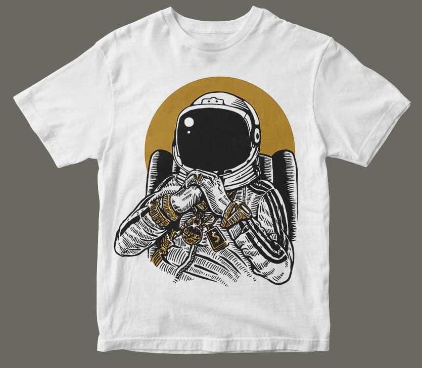 Space Dee Jay t shirt design buy t shirt design