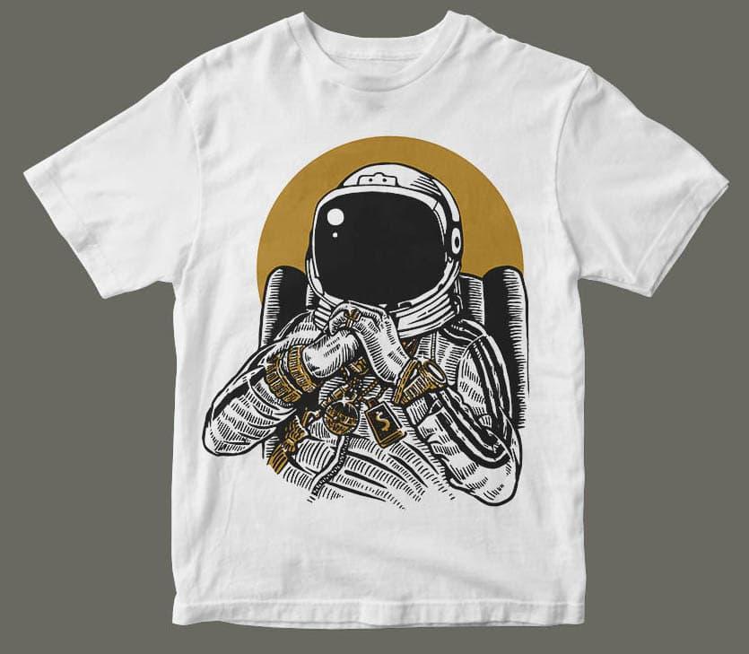 Space Dee Jay buy tshirt design mockup - Space Dee Jay t shirt design buy t shirt design