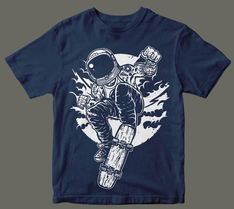 Space Skater t shirt design buy t shirt design