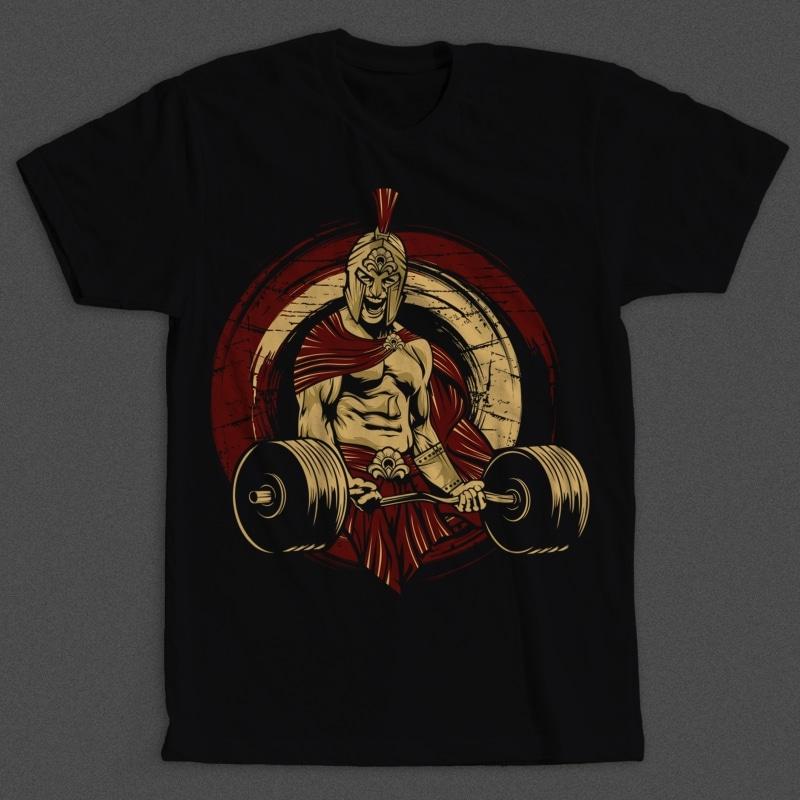 Spartan Gym mockup - Spartan Gym buy t shirt design