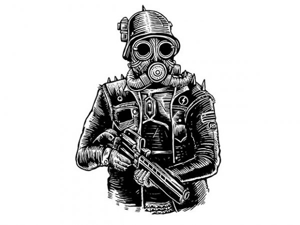 Steampunk Soldier t shirt design buy t shirt design