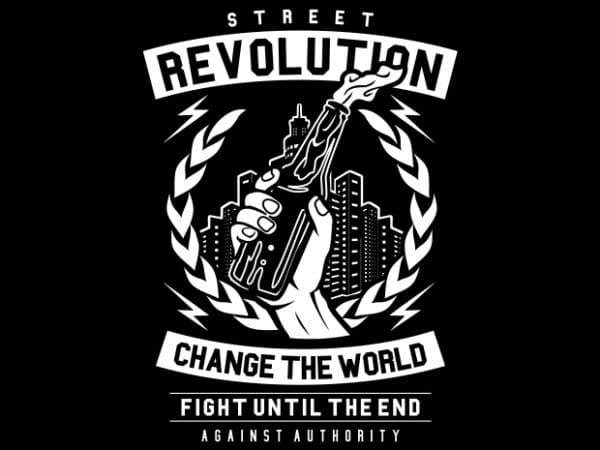 Street Revolution t shirt template vector