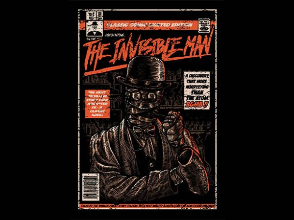 The Invisible Man t shirt design buy t shirt design