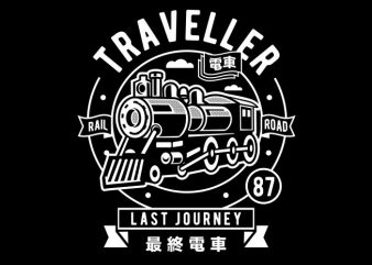 Traveller buy t shirt design