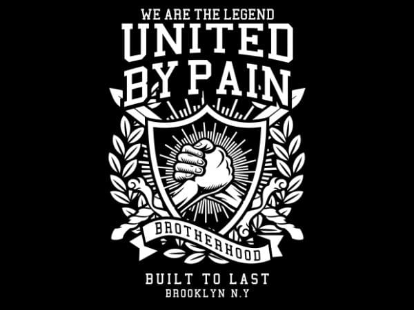 United By Pain t shirt vector graphic