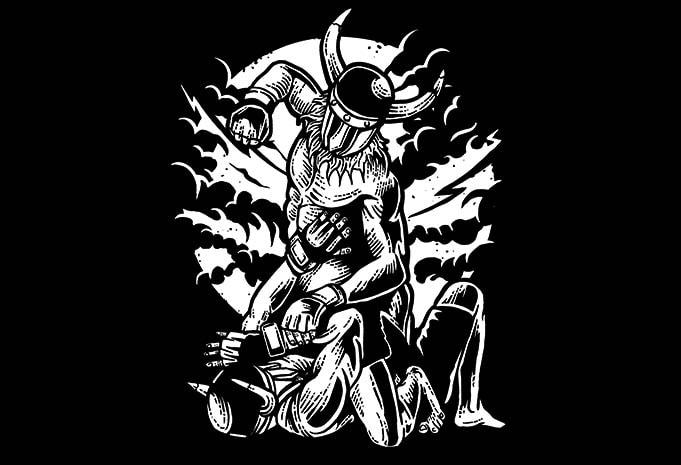 Viking MMA Fighter tshirt design - Viking MMA Fighter t shirt design buy t shirt design