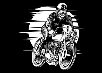 Vintage Racer t shirt vector art