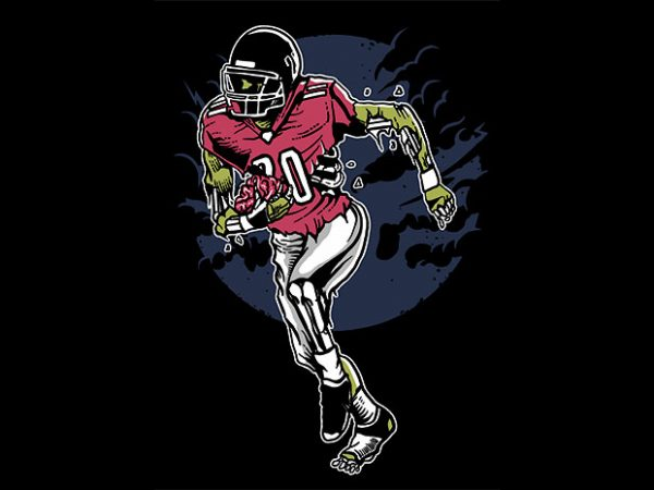 Zombie Football t shirt design buy t shirt design