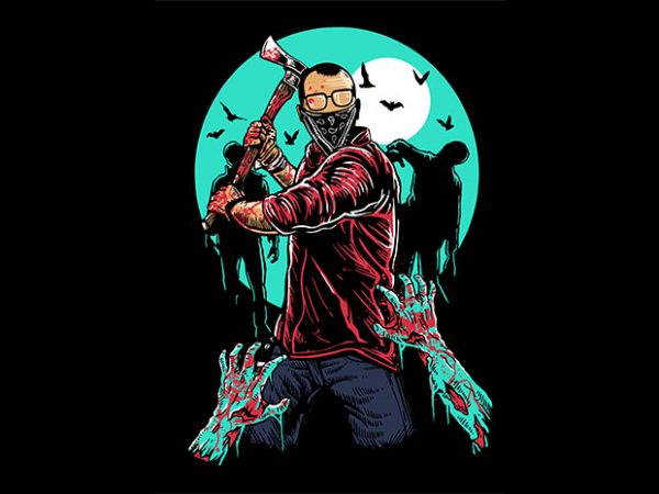 Zombie Killer t shirt design buy t shirt design