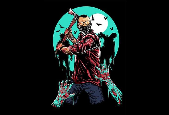 Zombie Killer buy tshirt design - Zombie Killer t shirt design buy t shirt design