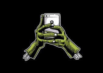 Zombie Phone t shirt design buy t shirt design