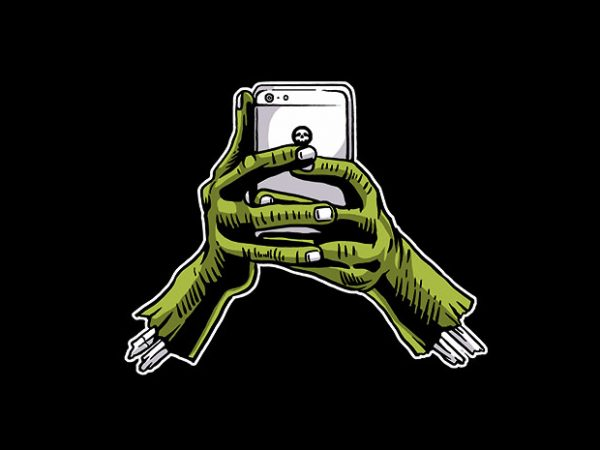 Zombie Phone t shirt design buy t shirt design