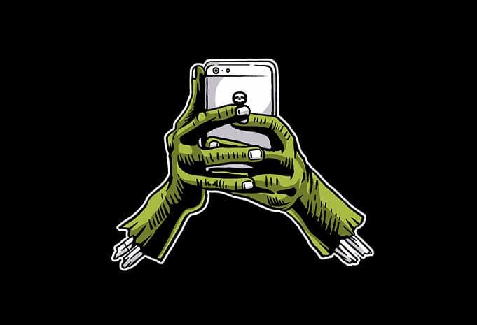 Zombie Phone tshirt design - Zombie Phone t shirt design buy t shirt design