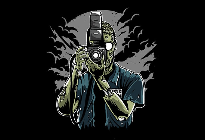 Zombie Photographer tshirt design - Zombie Photographer t shirt design buy t shirt design