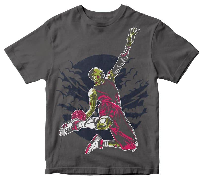 Zombie Slam Dunk t shirt design buy t shirt design